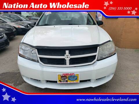 2008 Dodge Avenger for sale at Nation Auto Wholesale in Cleveland OH