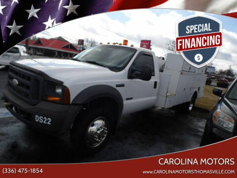 2005 Ford F-550 Super Duty for sale at CAROLINA MOTORS in Thomasville NC