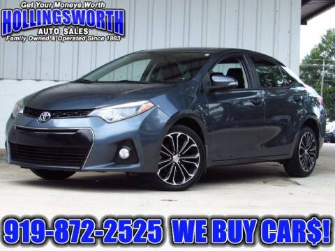 2015 Toyota Corolla for sale at Hollingsworth Auto Sales in Raleigh NC