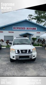2009 Nissan Titan for sale at Supreme Motors in Tavares FL
