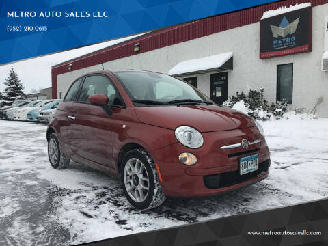 2015 FIAT 500 for sale at METRO AUTO SALES LLC in Blaine MN