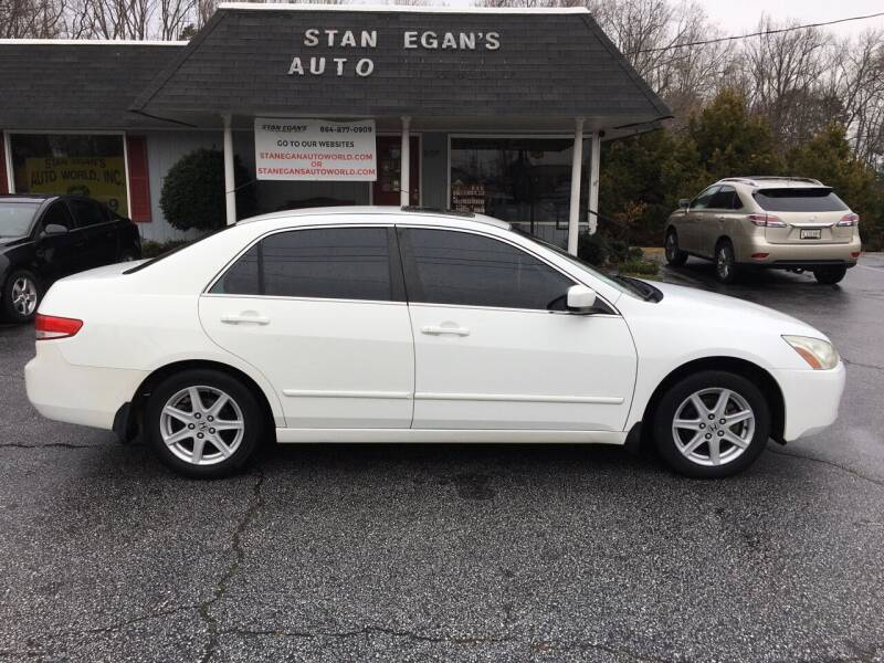 2003 Honda Accord for sale at STAN EGAN'S AUTO WORLD, INC. in Greer SC