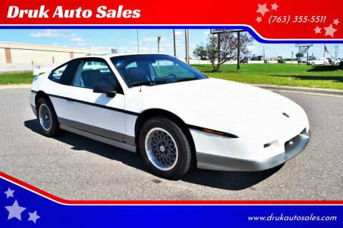 1986 Pontiac Fiero for sale at Druk Auto Sales in Ramsey MN