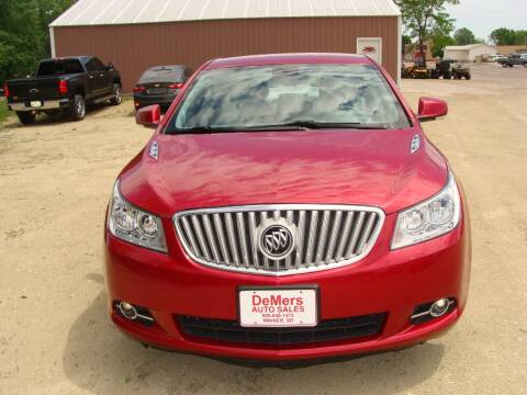 2012 Buick LaCrosse for sale at DeMers Auto Sales in Winner SD