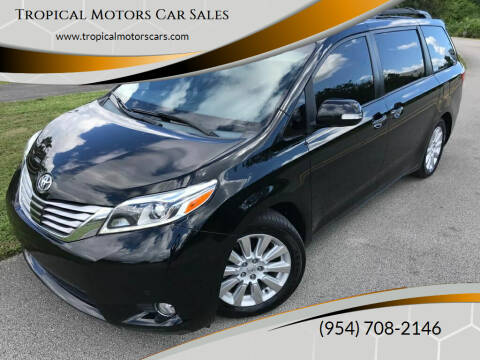 2015 Toyota Sienna for sale at Tropical Motors Car Sales in Deerfield Beach FL