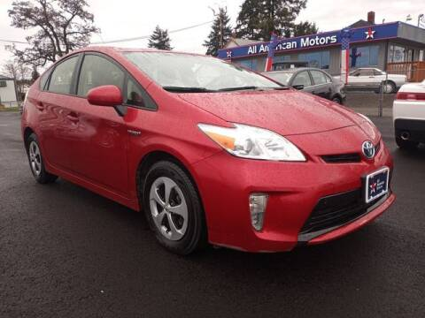 2014 Toyota Prius for sale at All American Motors in Tacoma WA