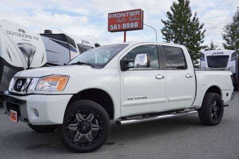 2013 Nissan Titan for sale at Frontier Auto & RV Sales in Anchorage AK