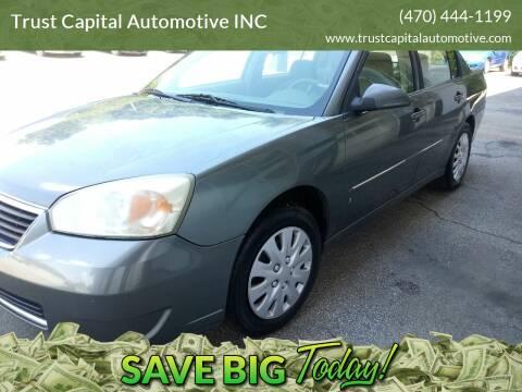 2006 Chevrolet Malibu for sale at Trust Capital Automotive Inc. in Covington GA