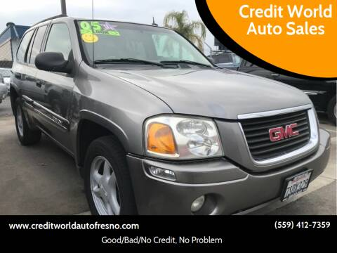 2005 GMC Envoy for sale at Credit World Auto Sales in Fresno CA