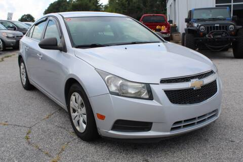 2012 Chevrolet Cruze for sale at UpCountry Motors in Taylors SC
