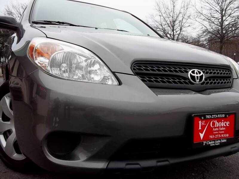 2008 Toyota Matrix for sale at 1st Choice Auto Sales in Fairfax VA