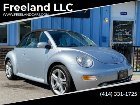 2004 Volkswagen New Beetle Convertible for sale at Freeland LLC in Waukesha WI
