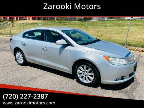 2012 Buick LaCrosse for sale at Zarooki Motors in Englewood CO