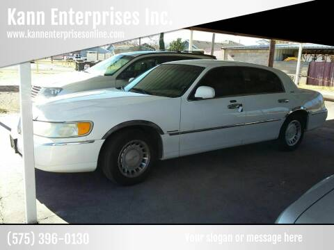 2000 Lincoln Town Car for sale at Kann Enterprises Inc. in Lovington NM