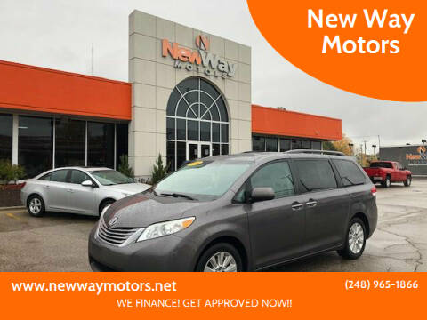 2014 Toyota Sienna for sale at New Way Motors in Ferndale MI