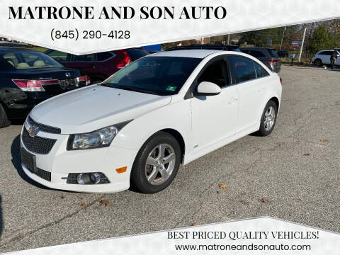 2012 Chevrolet Cruze for sale at Matrone and Son Auto in Tallman NY