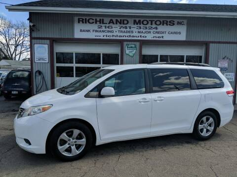 2011 Toyota Sienna for sale at Richland Motors in Cleveland OH