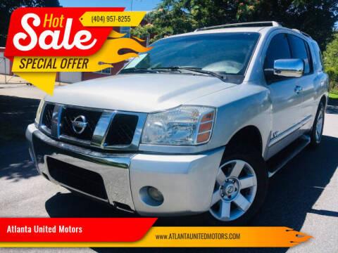 2005 Nissan Armada for sale at Atlanta United Motors in Buford GA