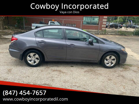 2014 Honda Civic for sale at Cowboy Incorporated in Waukegan IL