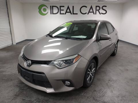 2016 Toyota Corolla for sale at Ideal Cars Broadway in Mesa AZ