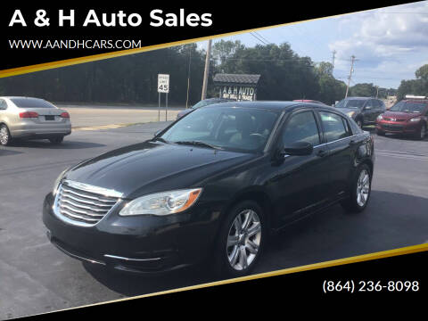 2011 Chrysler 200 for sale at A & H Auto Sales in Greenville SC
