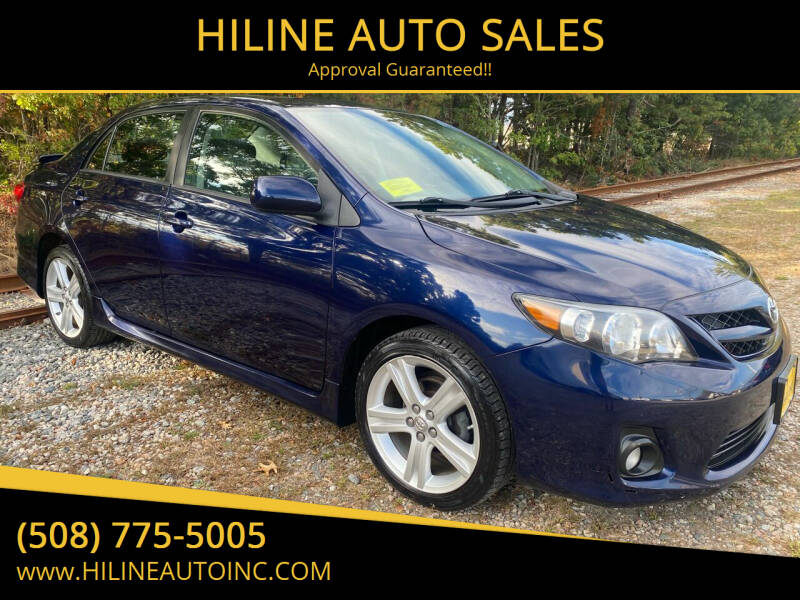 2013 Toyota Corolla for sale at HILINE AUTO SALES in Hyannis MA
