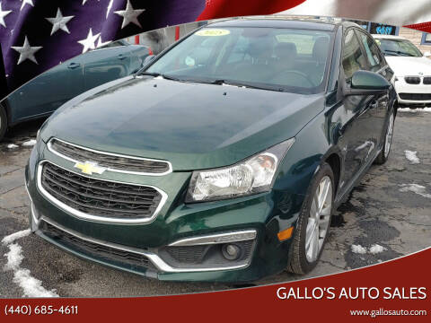 2015 Chevrolet Cruze for sale at Gallo's Auto Sales in North Bloomfield OH
