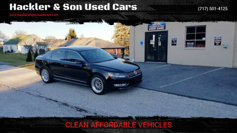 2013 Volkswagen Passat for sale at Hackler & Son Used Cars in Red Lion PA