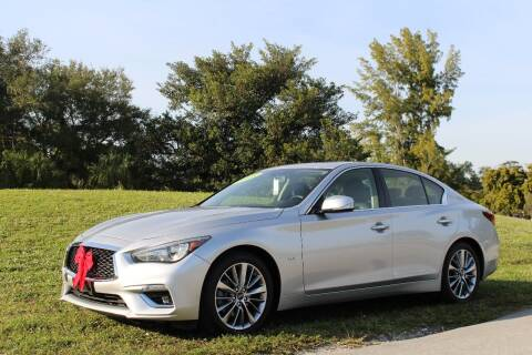 2018 Infiniti Q50 for sale at CHASE MOTOR in Miami FL