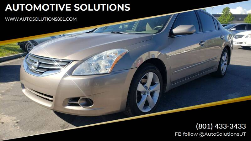 2011 Nissan Altima for sale at AUTOMOTIVE SOLUTIONS in Salt Lake City UT