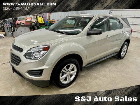 2016 Chevrolet Equinox for sale at S&J Auto Sales in South Haven MN