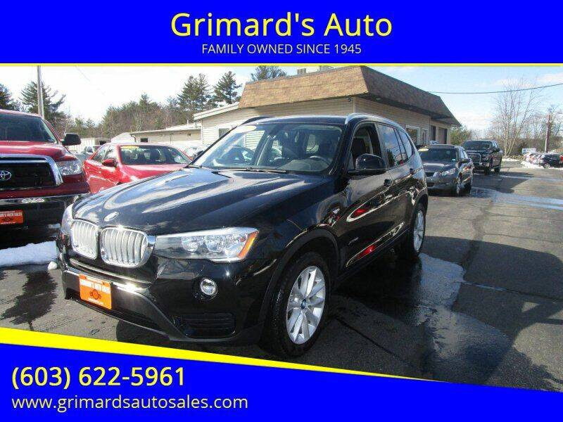 2016 BMW X3 for sale at Grimard's Auto in Hooksett, NH