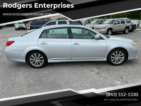 2011 Toyota Avalon for sale at Rodgers Enterprises in North Charleston SC