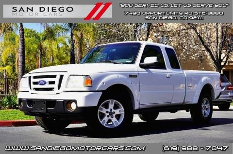 2010 Ford Ranger for sale at San Diego Motor Cars LLC in San Diego CA