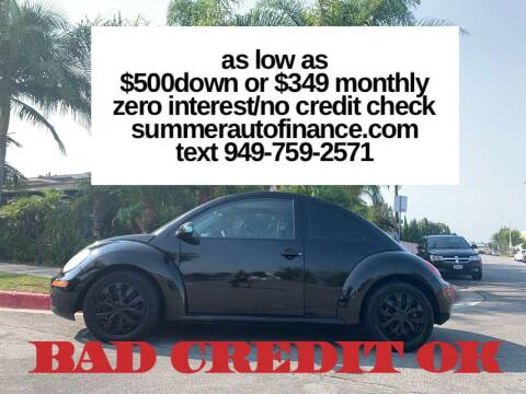 2010 Volkswagen New Beetle for sale at SUMMER AUTO FINANCE in Costa Mesa CA