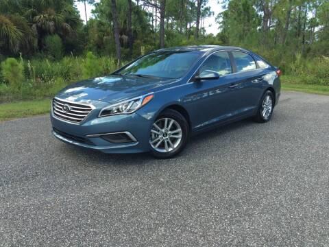 2017 Hyundai Sonata for sale at VICTORY LANE AUTO SALES in Port Richey FL