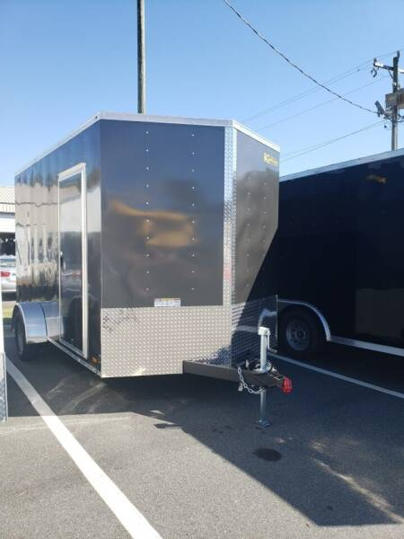 2021 7x12 Deluxe Enclosed Trailer for sale at Big Daddy's Trailer Sales in Winston Salem NC