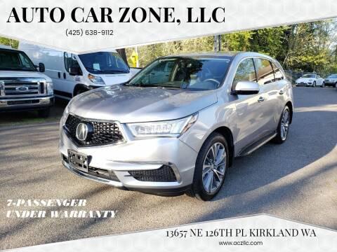2017 Acura MDX for sale at Auto Car Zone, LLC in Kirkland WA