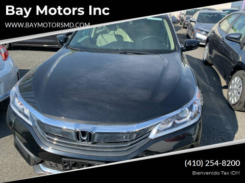 2017 Honda Accord for sale at Bay Motors Inc in Baltimore MD