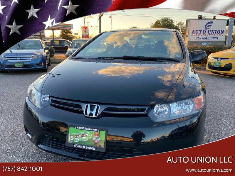 2008 Honda Civic for sale at Auto Union LLC in Virginia Beach VA
