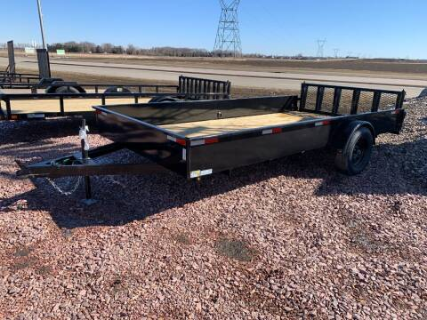 2021 H&H Solid Side Steel 82x14 #2118 for sale at Prairie Wind Trailers, LLC in Harrisburg SD