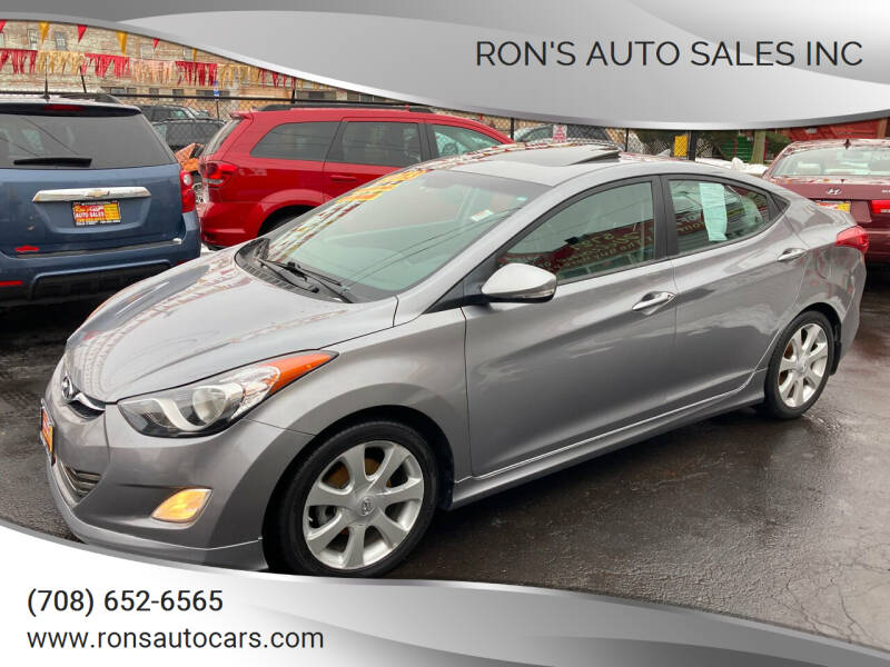 2013 Hyundai Elantra for sale at RON'S AUTO SALES INC in Cicero IL