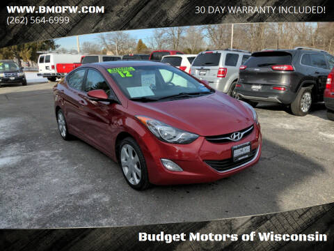 2012 Hyundai Elantra for sale at Budget Motors of Wisconsin in Racine WI