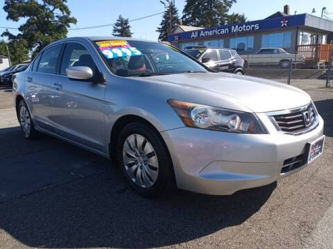 2010 Honda Accord for sale at All American Motors in Tacoma WA