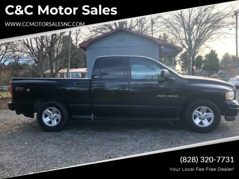 2002 Dodge Ram Pickup 1500 for sale at C&C Motor Sales LLC in Hudson NC