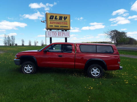 1998 Dodge Dakota for sale at OLBY AUTOMOTIVE SALES in Frederic WI