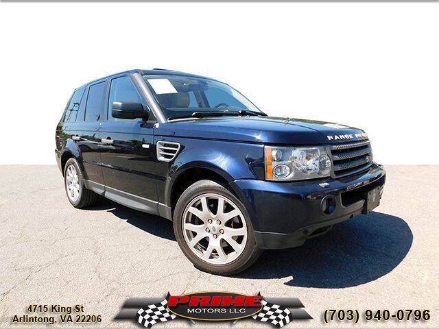 2009 Land Rover Range Rover Sport for sale at PRIME MOTORS LLC in Arlington VA