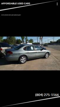 2005 Ford Taurus for sale at AFFORDABLE USED CARS in Richmond VA