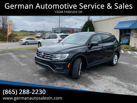 2018 Volkswagen Tiguan for sale at German Automotive Service & Sales in Knoxville TN