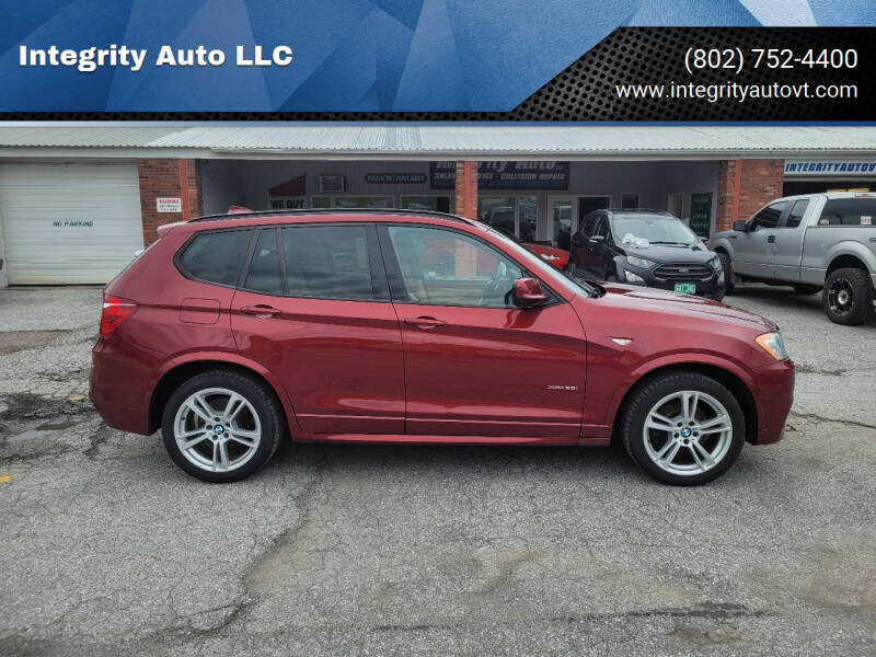 2014 BMW X3 for sale at Integrity Auto LLC - Integrity Auto 2.0 in St. Albans VT